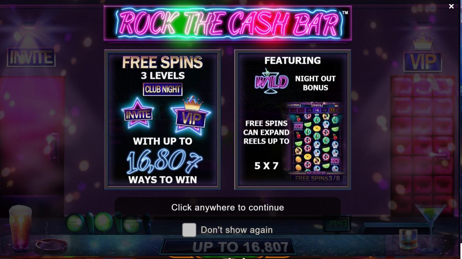 Игровой автомат Rock The Cash Bar